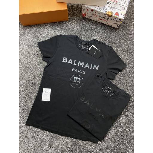 Black Balmain Logo T-Shirt