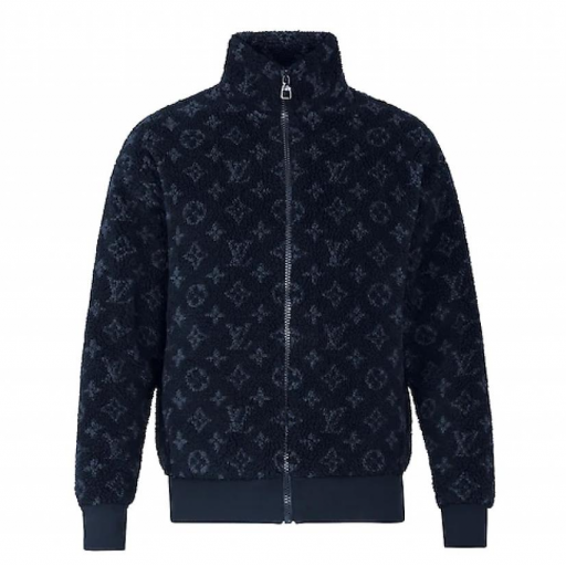 Louis Vuitton Monogram Jacquard Fleece Zip-Through Jacket